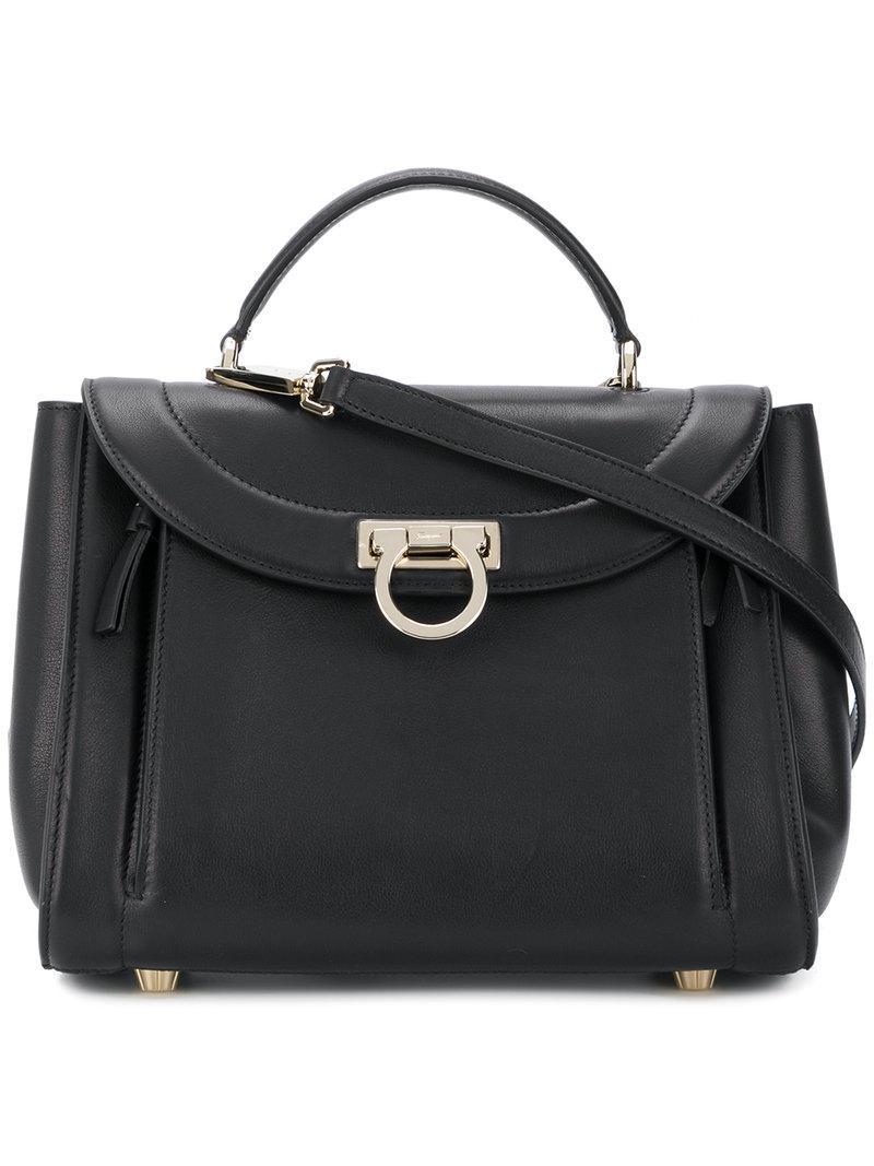 Lyst - Ferragamo Sofia Small Tote Bag in Black - Save 23% f57310c03befe