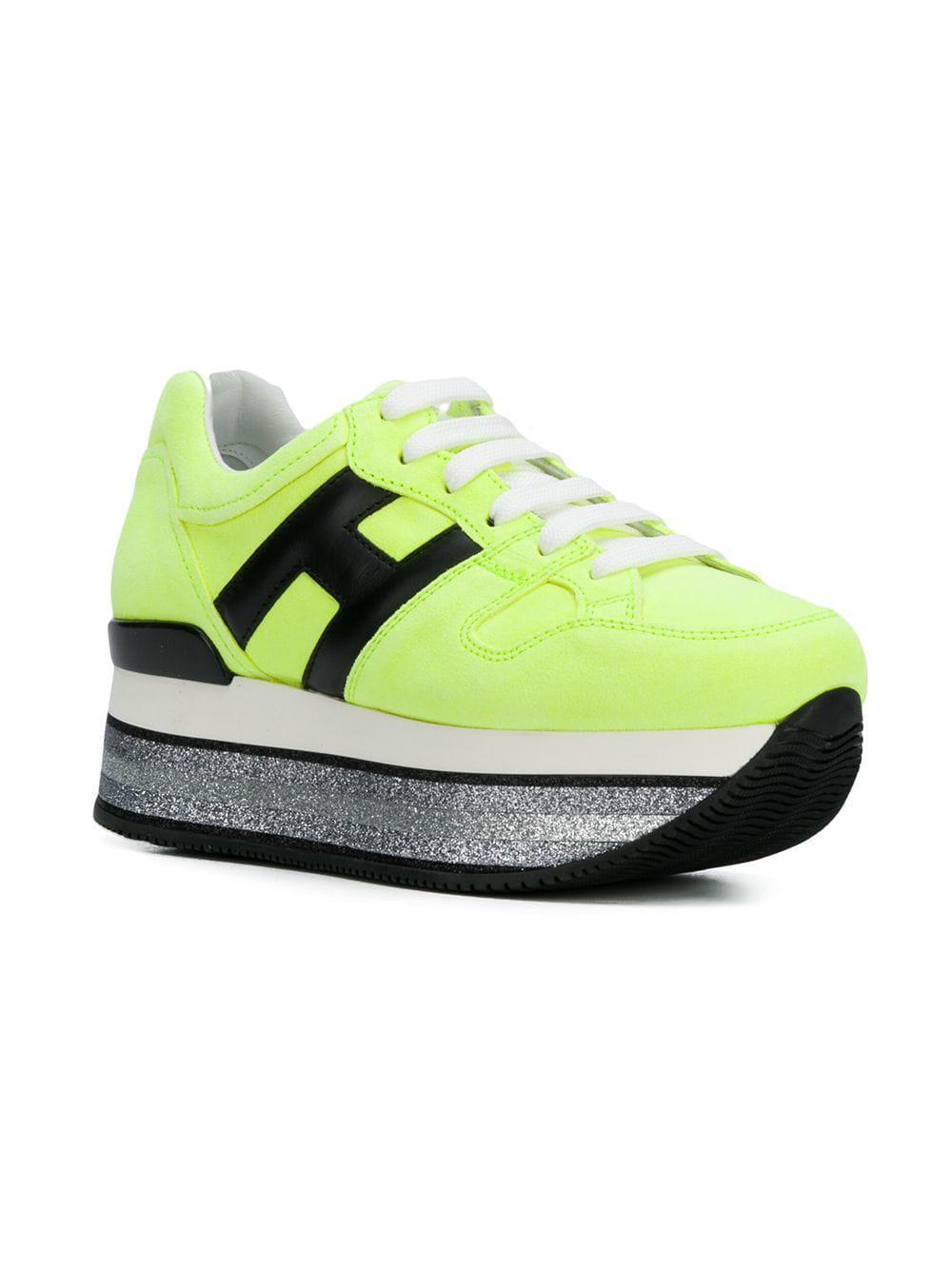 be7395c25ebb4 Hogan Maxi H222 Platform Sneakers in Yellow - Lyst