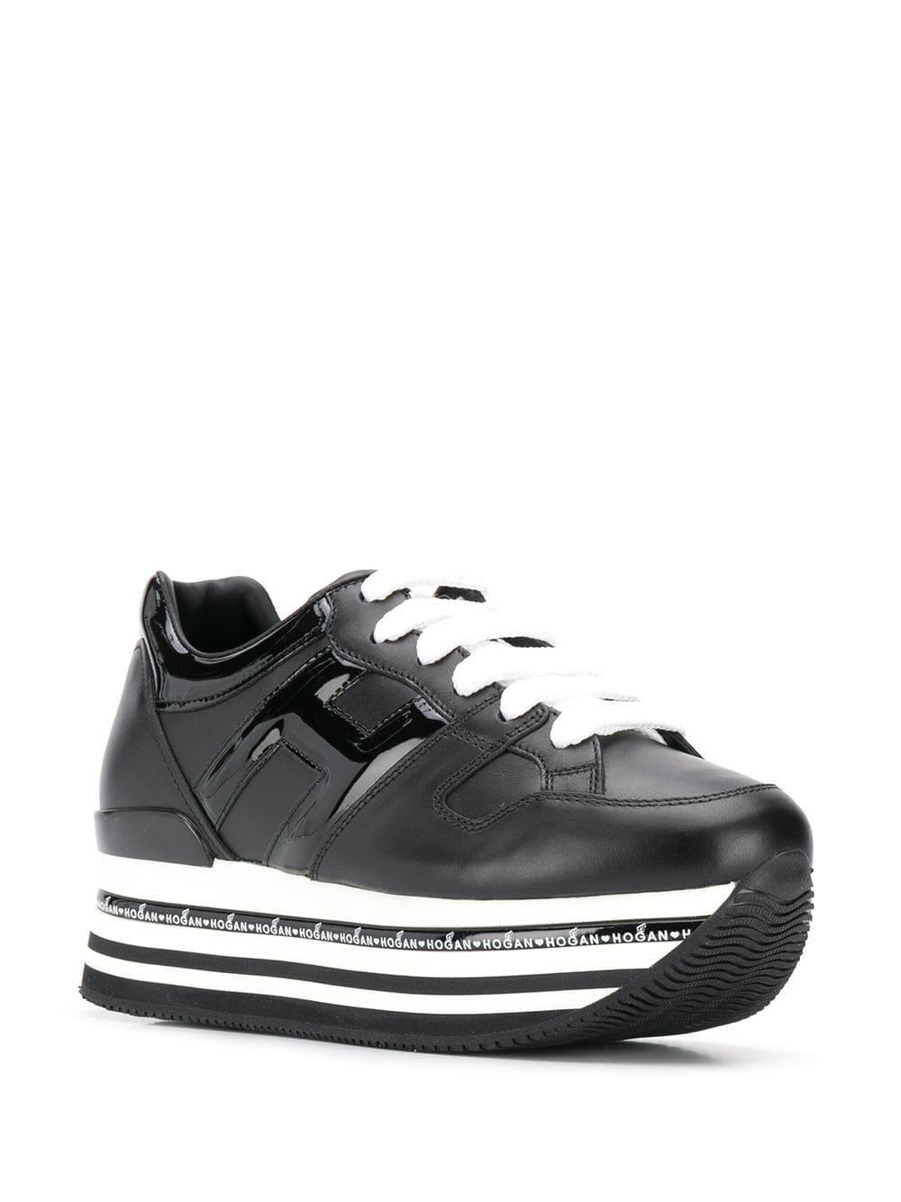 a09f67425b0 Lyst - Hogan Striped Platform Sneakers in Black