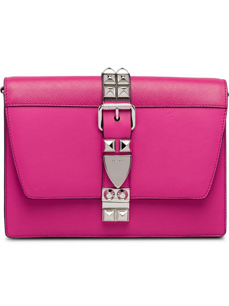 bbb6ae6647b8 Prada Elektra Calf Leather Bag in Pink - Lyst