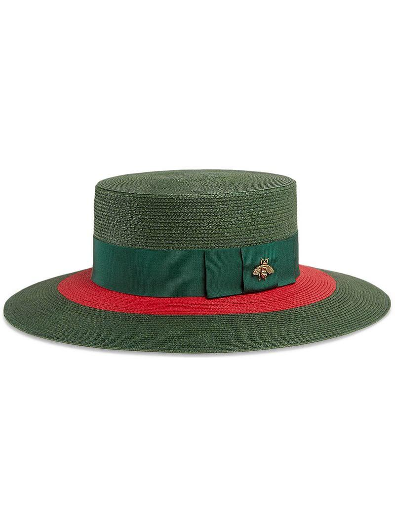 65b9dd7b269 Lyst - Gucci Papier Wide Brim Hat in Green
