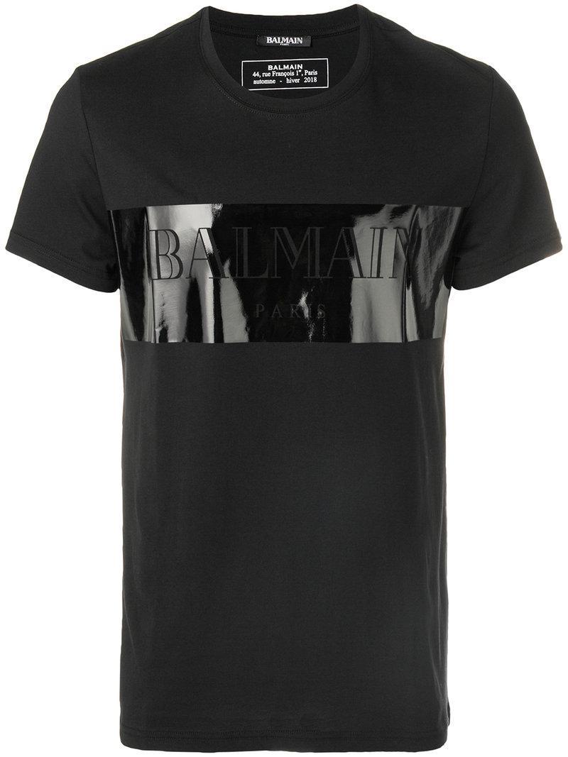 on sale 68c35 32a02 balmain-black-T-shirt-a-logo-devant.jpeg