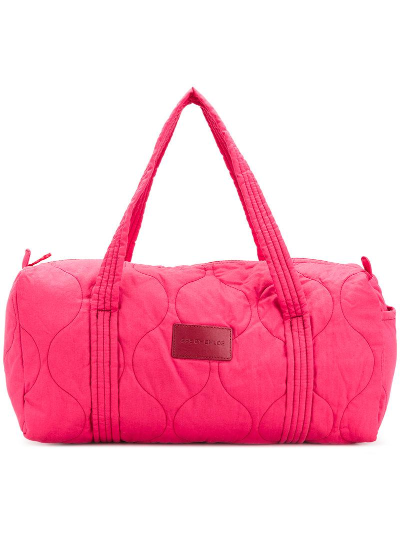 quilted duffle tote - Pink & Purple See By Chloé Sale Cheap Price pLuhibc