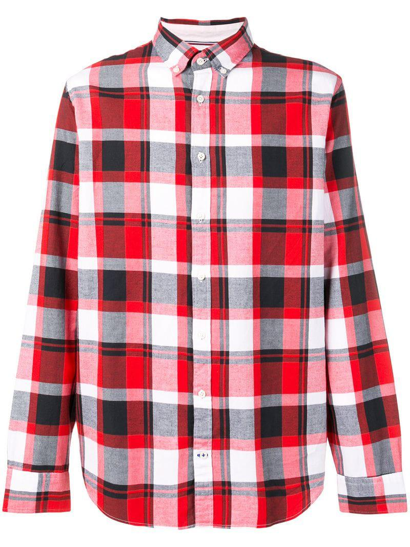 3462b1e454b4 Lyst - Tommy Hilfiger Plaid Button Down Shirt in Red for Men