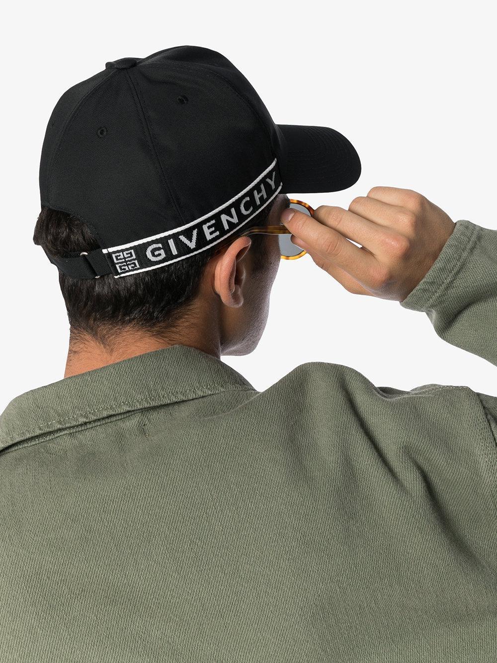 19a718839df Givenchy - Black And White 4g Logo Baseball Cap for Men - Lyst. View  fullscreen