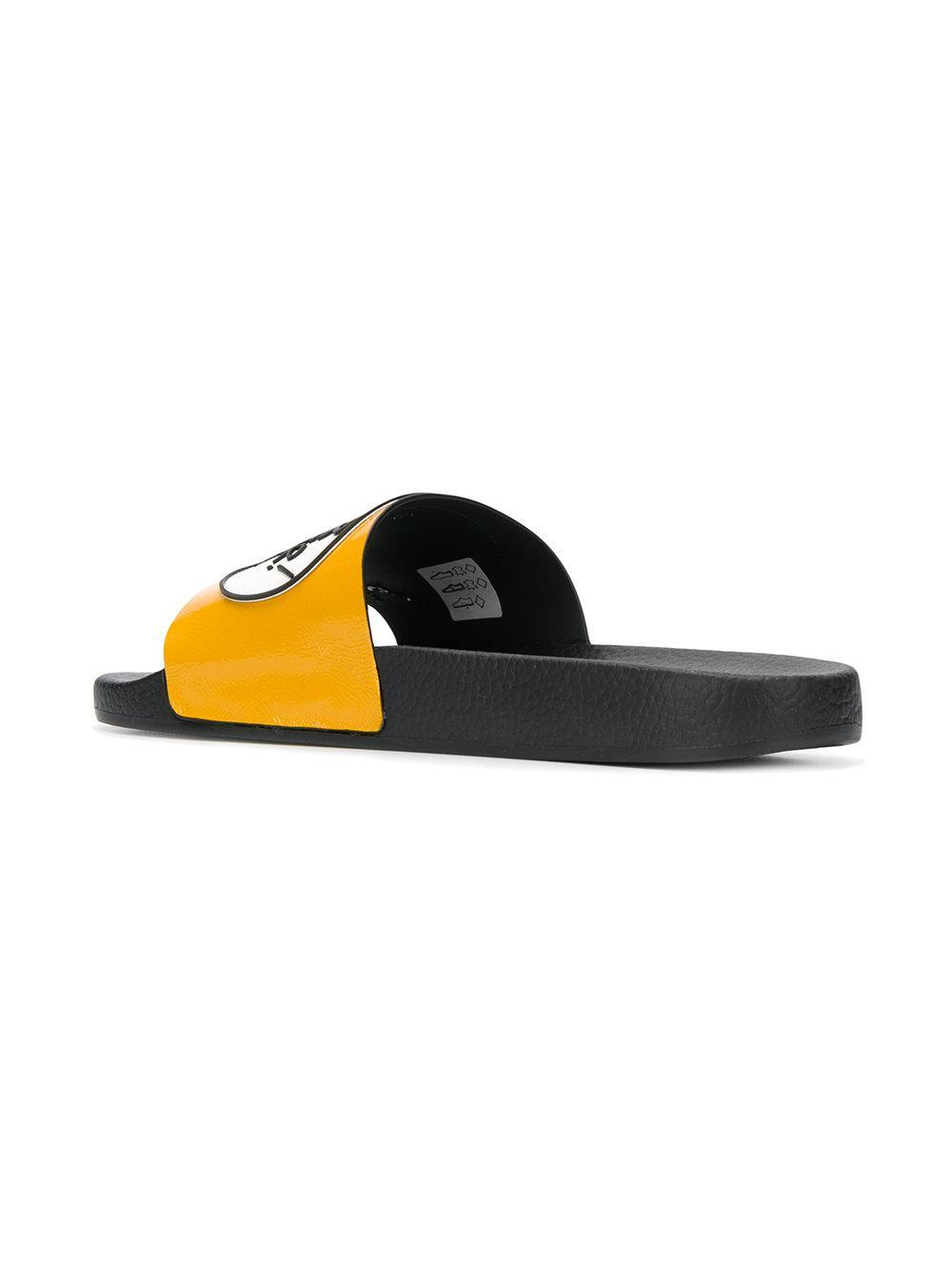 Marketable Online New Fashion Style Of comic book print slides - Yellow & Orange Moncler 5YjdJV2