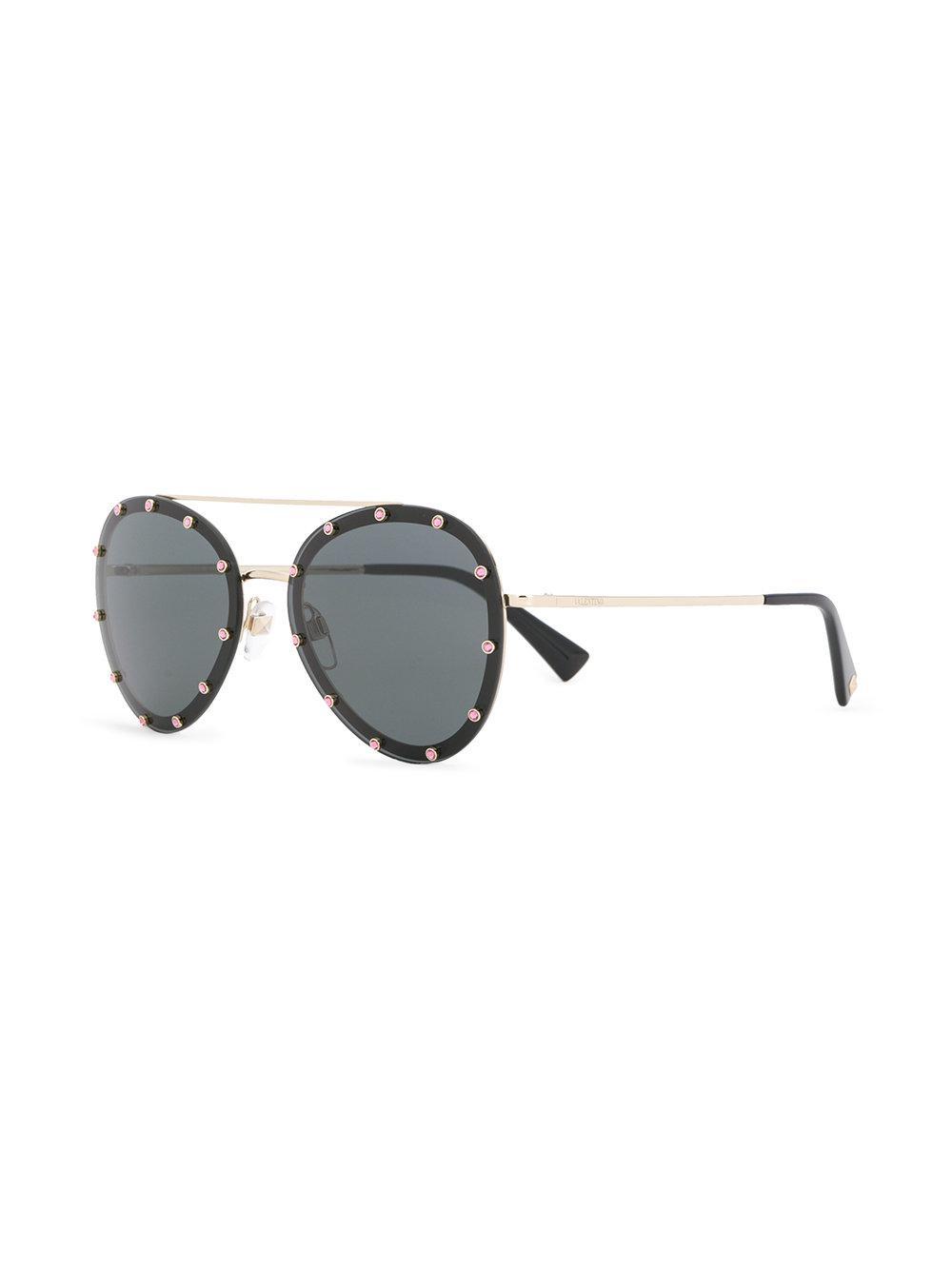 2d610bee24 Lyst - Valentino Eyewear Valentino Garavani Rockstud Glamtech ...