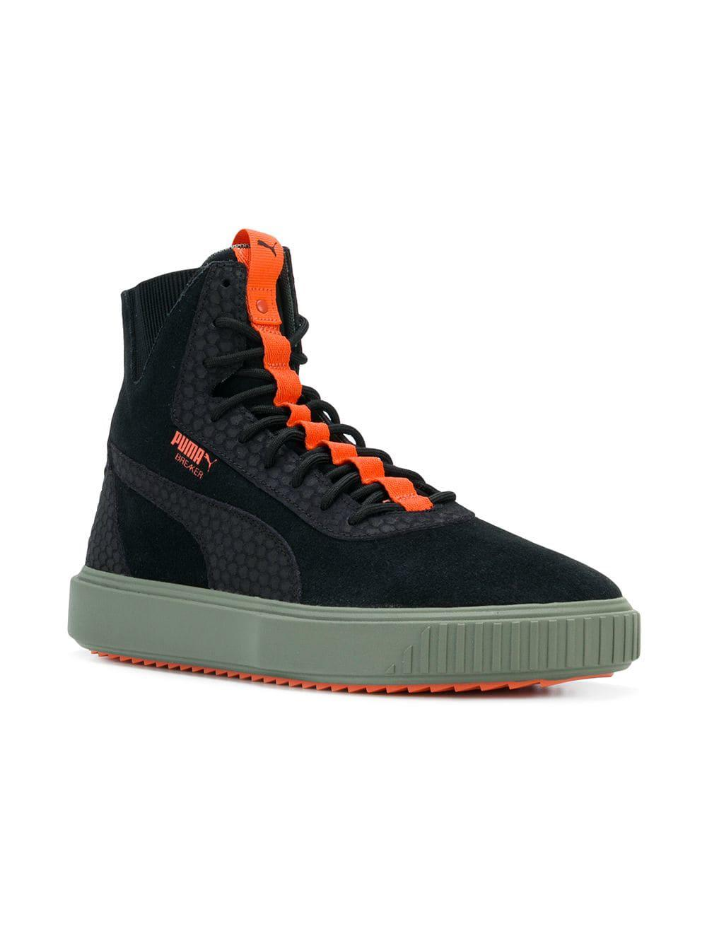 04422661c701 Lyst - PUMA Breaker High-top Sneakers in Black for Men