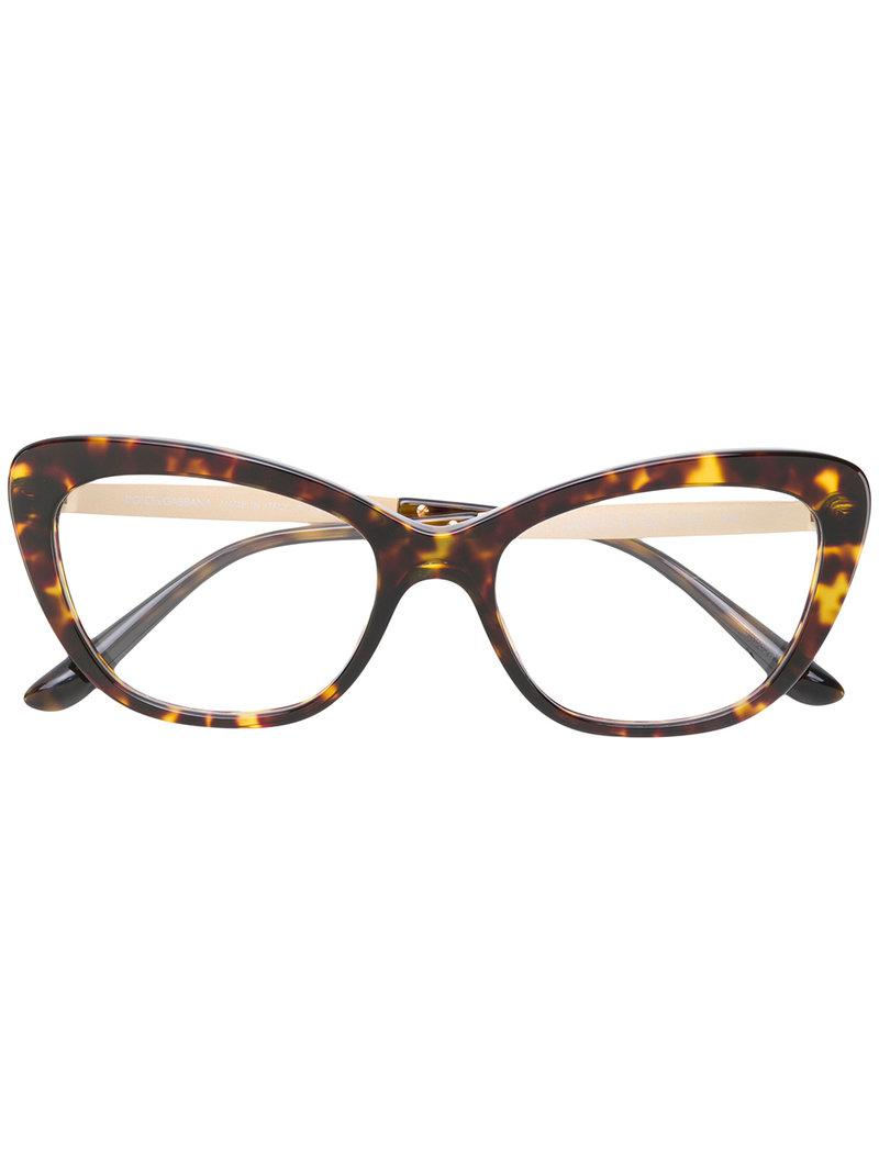 503573cafaad Dolce   Gabbana Mambo Collection Glasses in Brown - Lyst