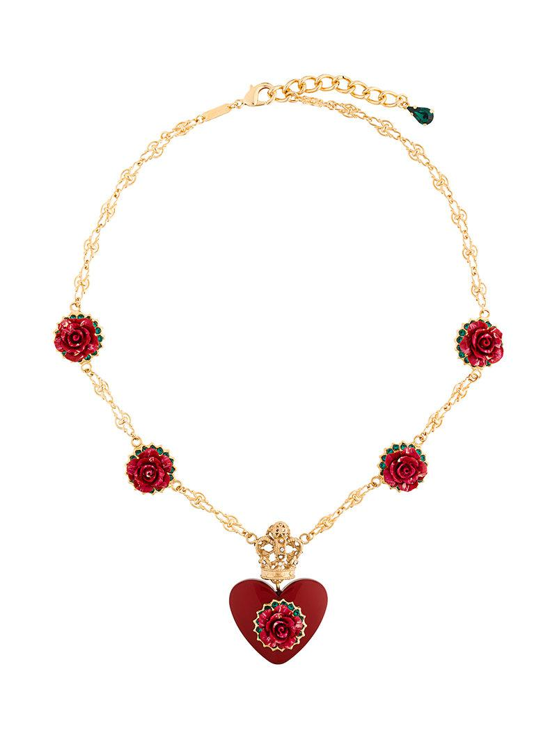 Dolce & Gabbana embellished pendant necklace - Metallic tZdeW