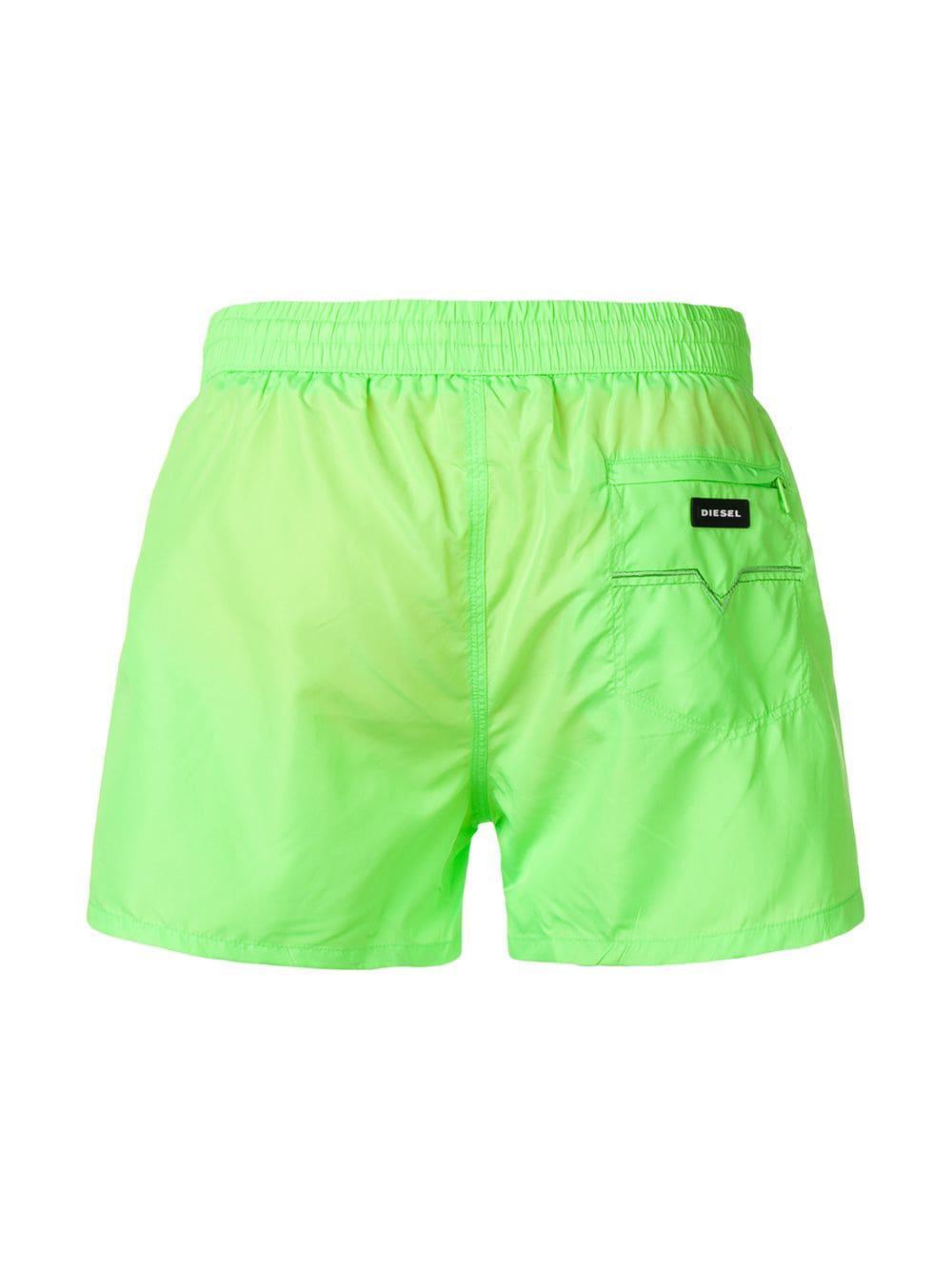 0a9095d682 DIESEL - Green Sandy Swim Shorts for Men - Lyst. View fullscreen