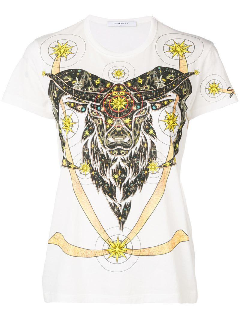 4570c056eafc2 Givenchy - White Goat Print T-shirt - Lyst. View fullscreen