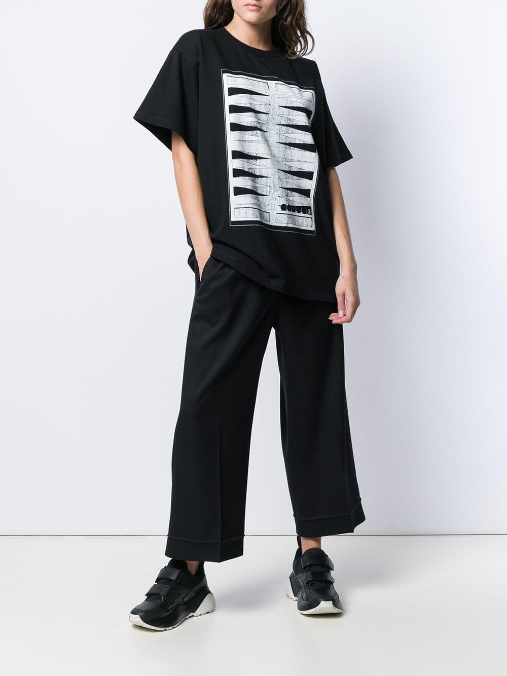 b0373dd0 MM6 by Maison Martin Margiela Backgammon Print T-shirt in Black - Lyst