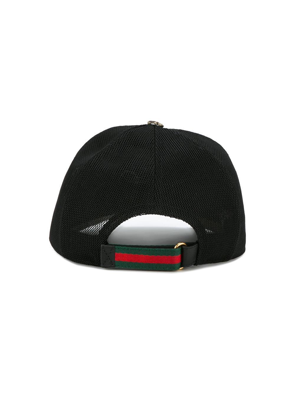 bdbbe3d69efdd Gucci Bee Print Gg Supreme Baseball Cap for Men - Lyst