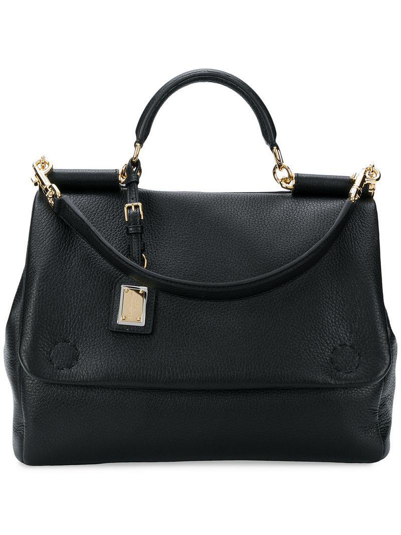 022f4d04718b Lyst - Dolce   Gabbana Sicily Soft Tote in Black for Men