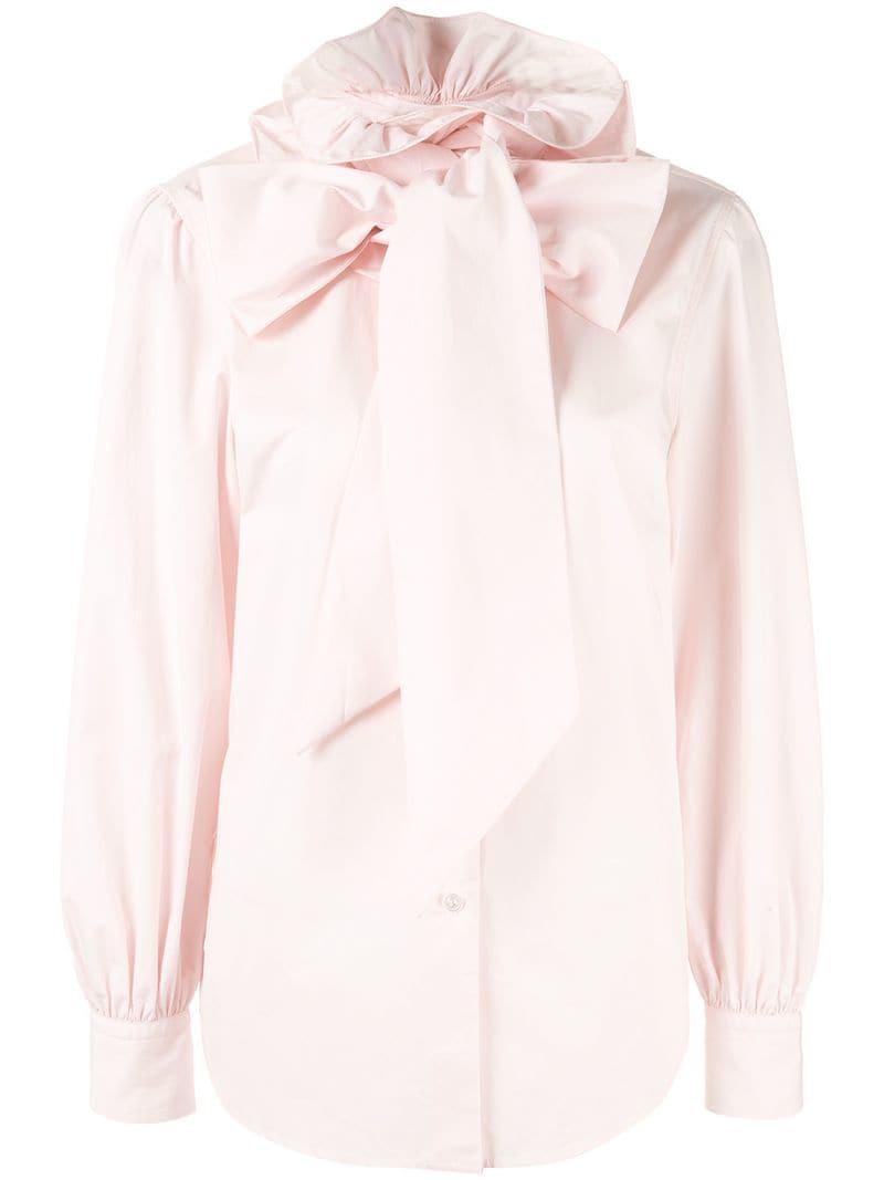 d672f744e42529 Marc Jacobs Pussy Bow Shirt in Pink - Lyst