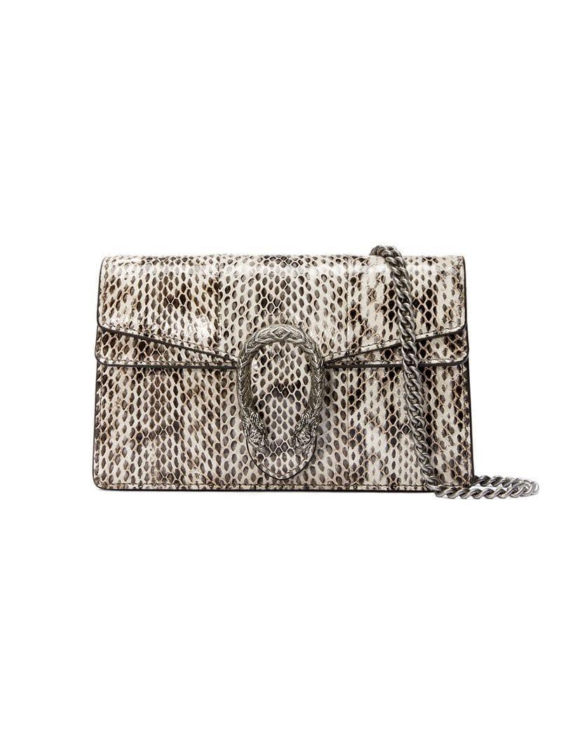 7d3a21c07d7 Lyst - Gucci Dionysus Super Mini Snakeskin Bag in White