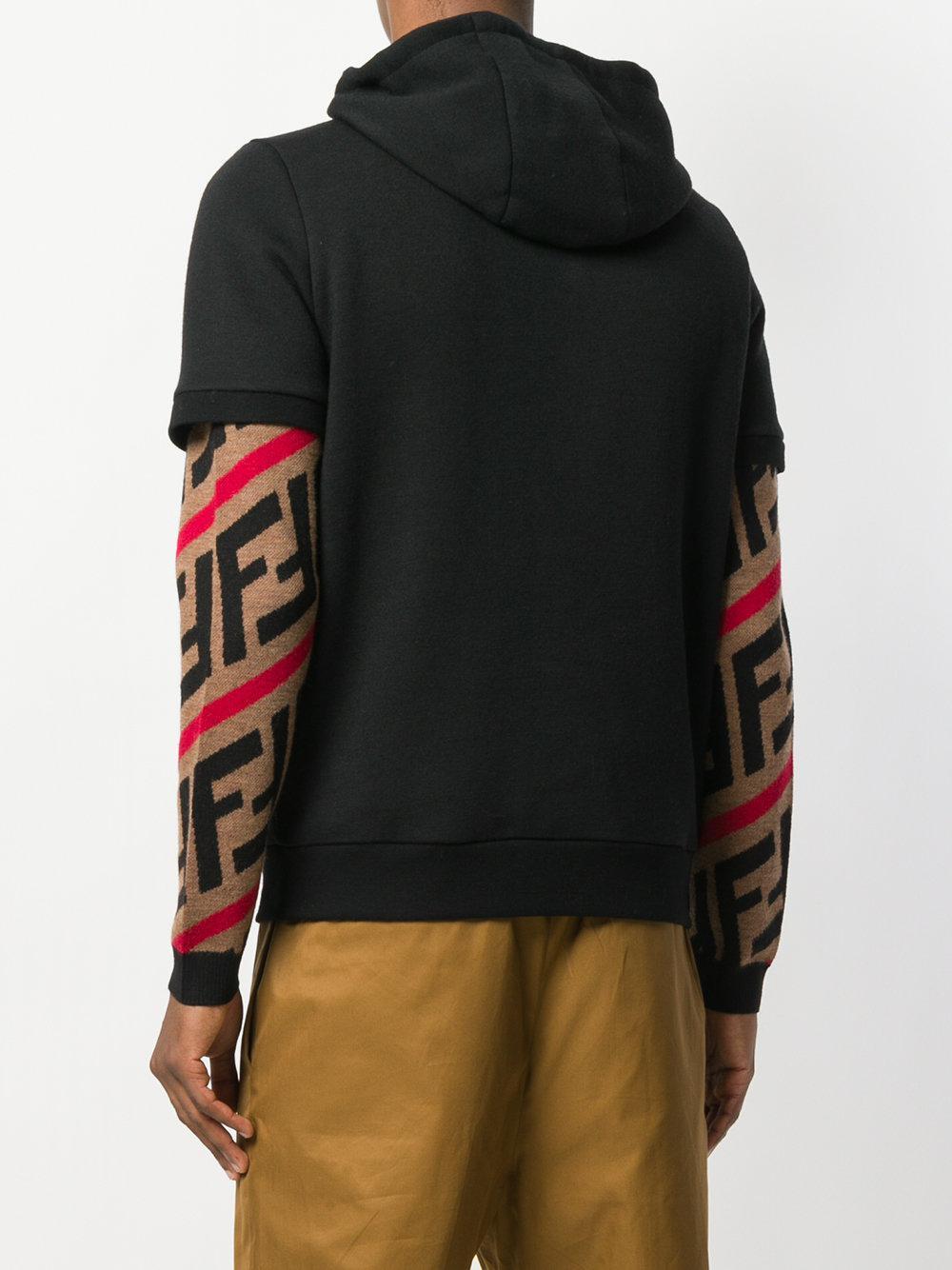 1f41b3d1e5 ... coupon for fendi black bag bugs short sleeve hoodie for men lyst. view  fullscreen 1f520