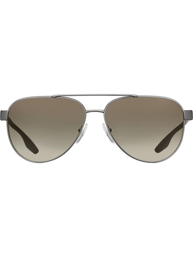 1d87a56fdf4 Lyst - Prada Linea Rossa Stubb Sunglasses in Gray for Men