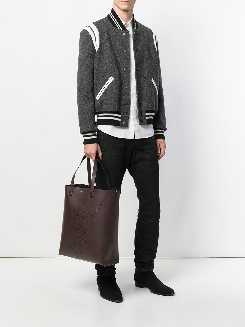807c4b1b9293 Lyst - Saint Laurent Bold Shopper Bag in Brown for Men