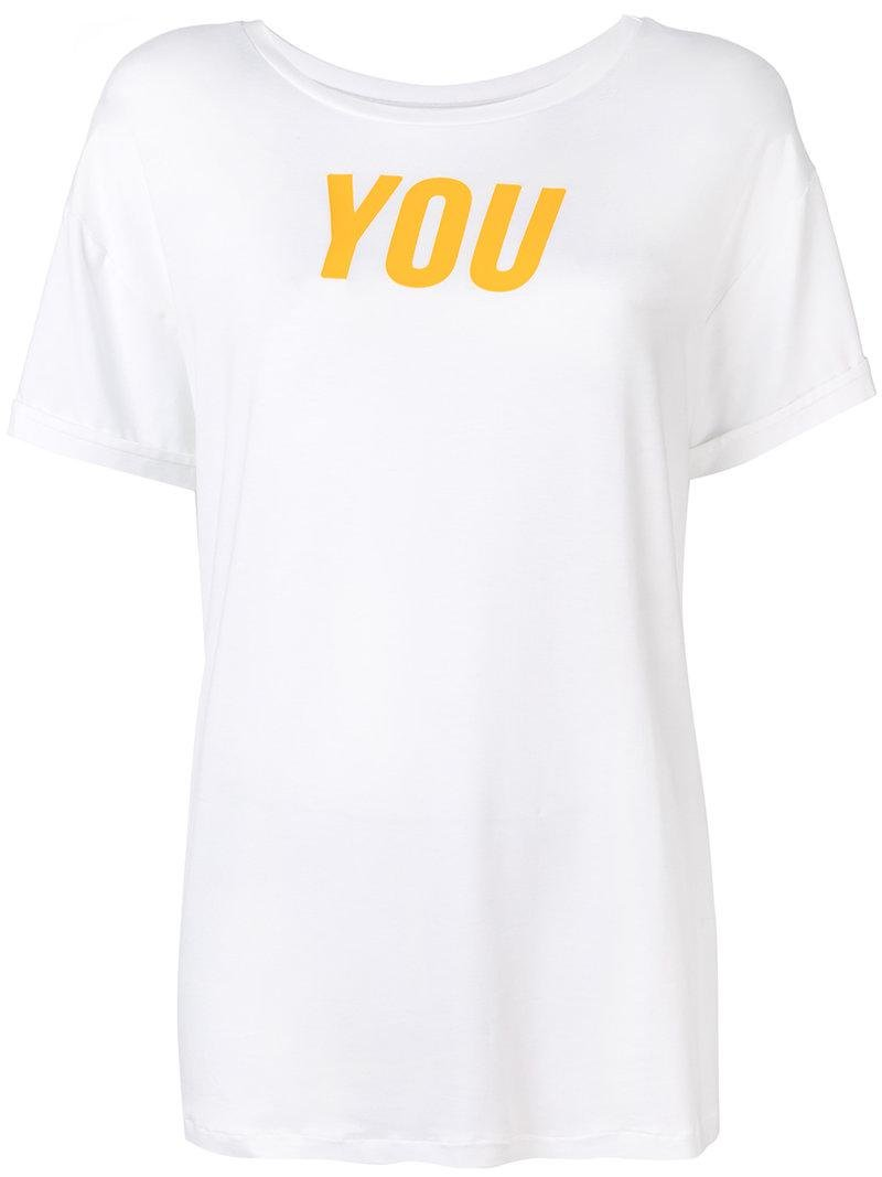 short-sleeved T-shirt - White Styland Discount Low Cost Low Price Cheap Online Clearance Factory Outlet 58d6hK