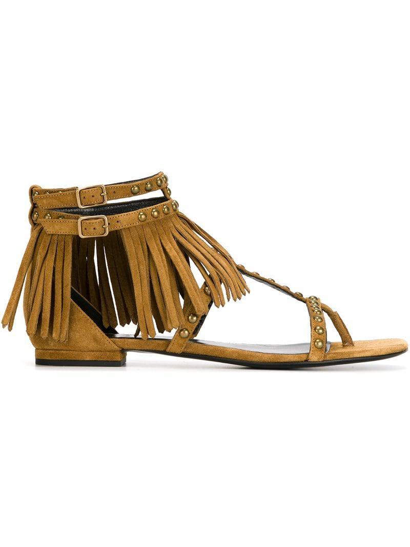 8a4093f6f71 Lyst - Saint Laurent  nu Pied  Flat Sandals