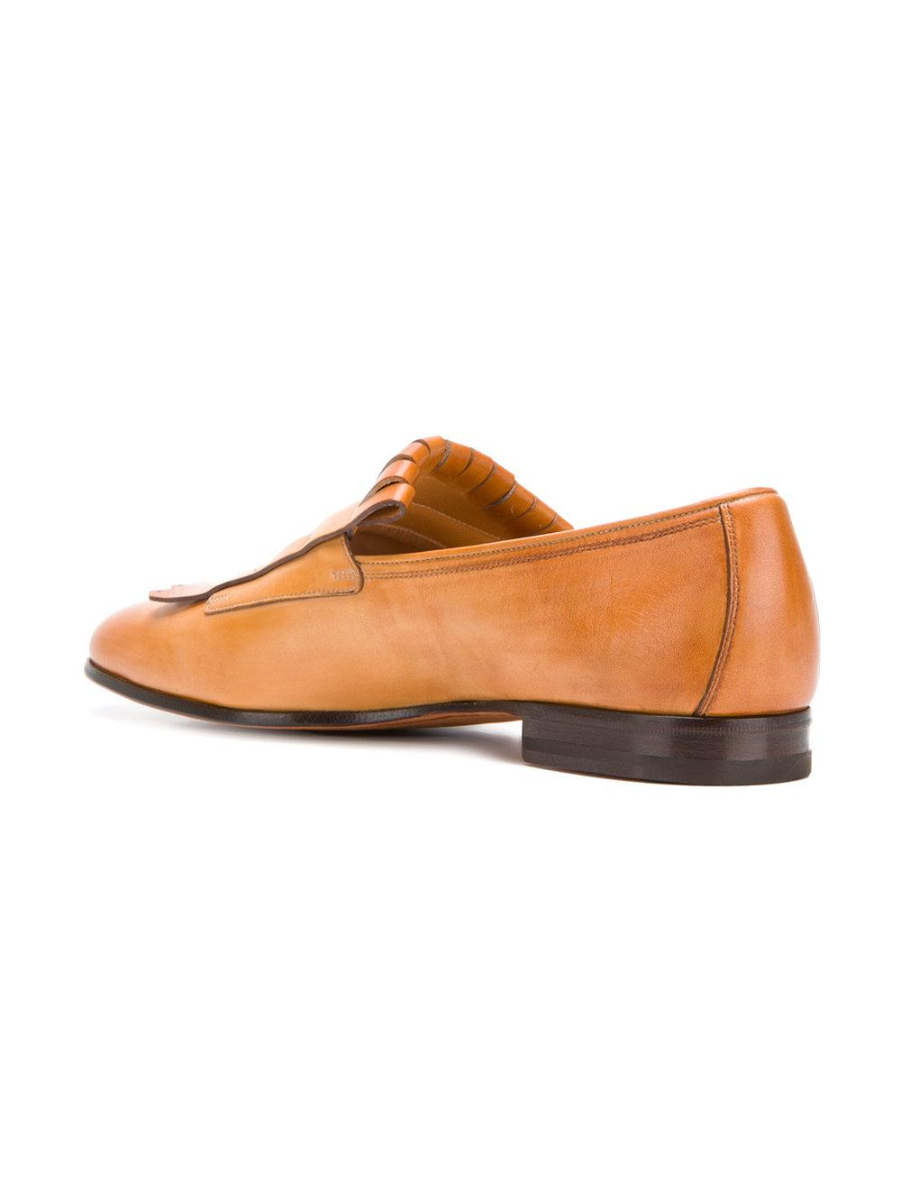 classic buckled loafers - Brown Santoni VQ5ZqwFttc