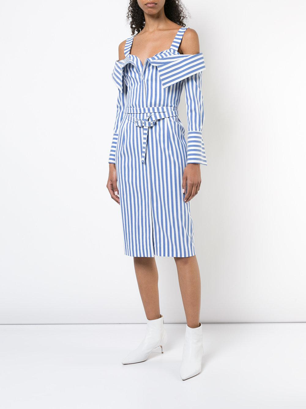 e10d00ef236ab Monse Flap Front Off Shoulder Dress in Blue - Save 78% - Lyst