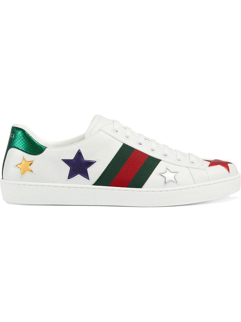 7a33bd57d5d Gucci Sneaker Bassa  ace  in White for Men - Lyst