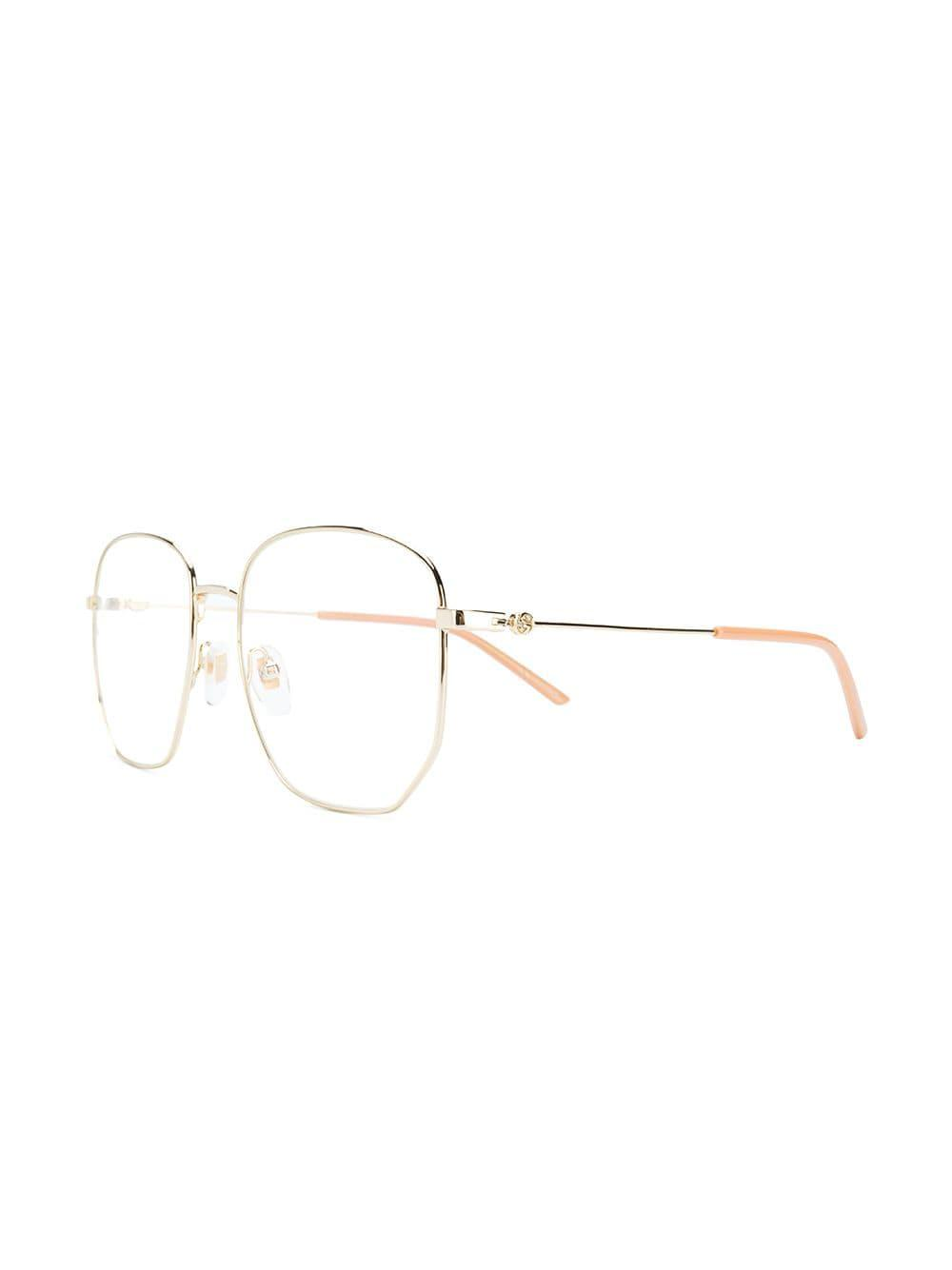 7f64dbf80499d Gucci Rectangular Frame Glasses in Metallic - Lyst