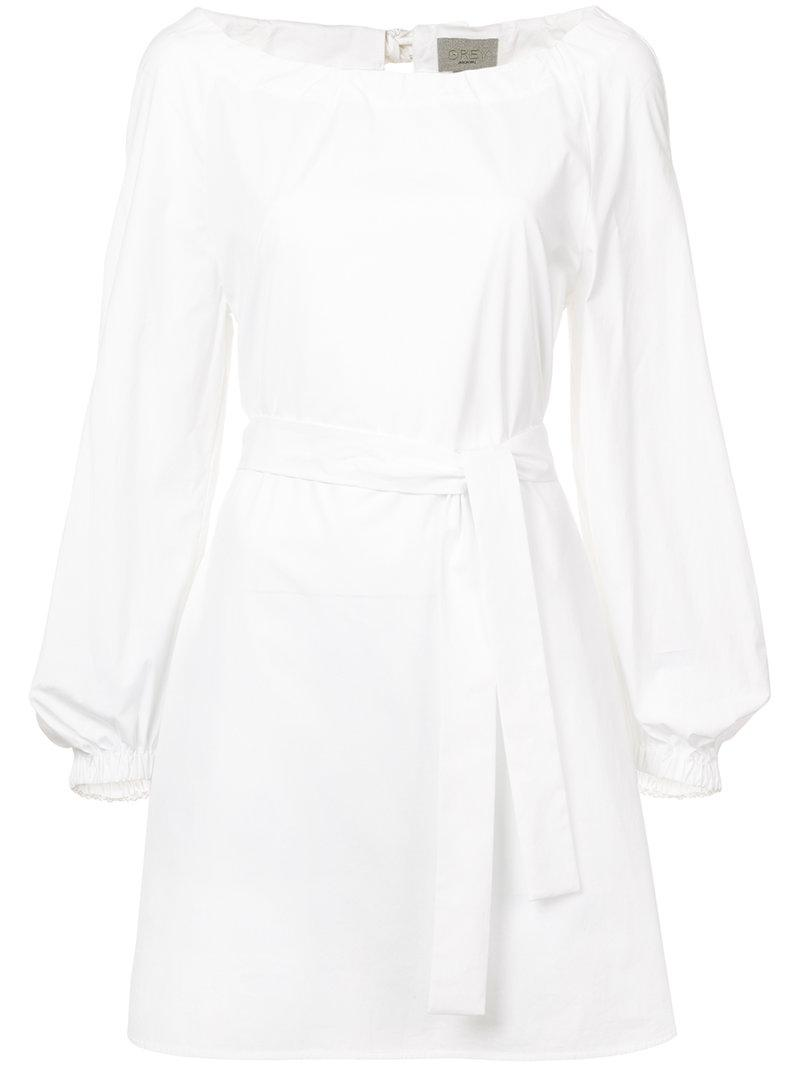 100% Authentic Cheap Online Outlet Find Great belted shift mini dress - White Jason Wu Grey Unisex Buy Cheap Many Kinds Of MPnTC