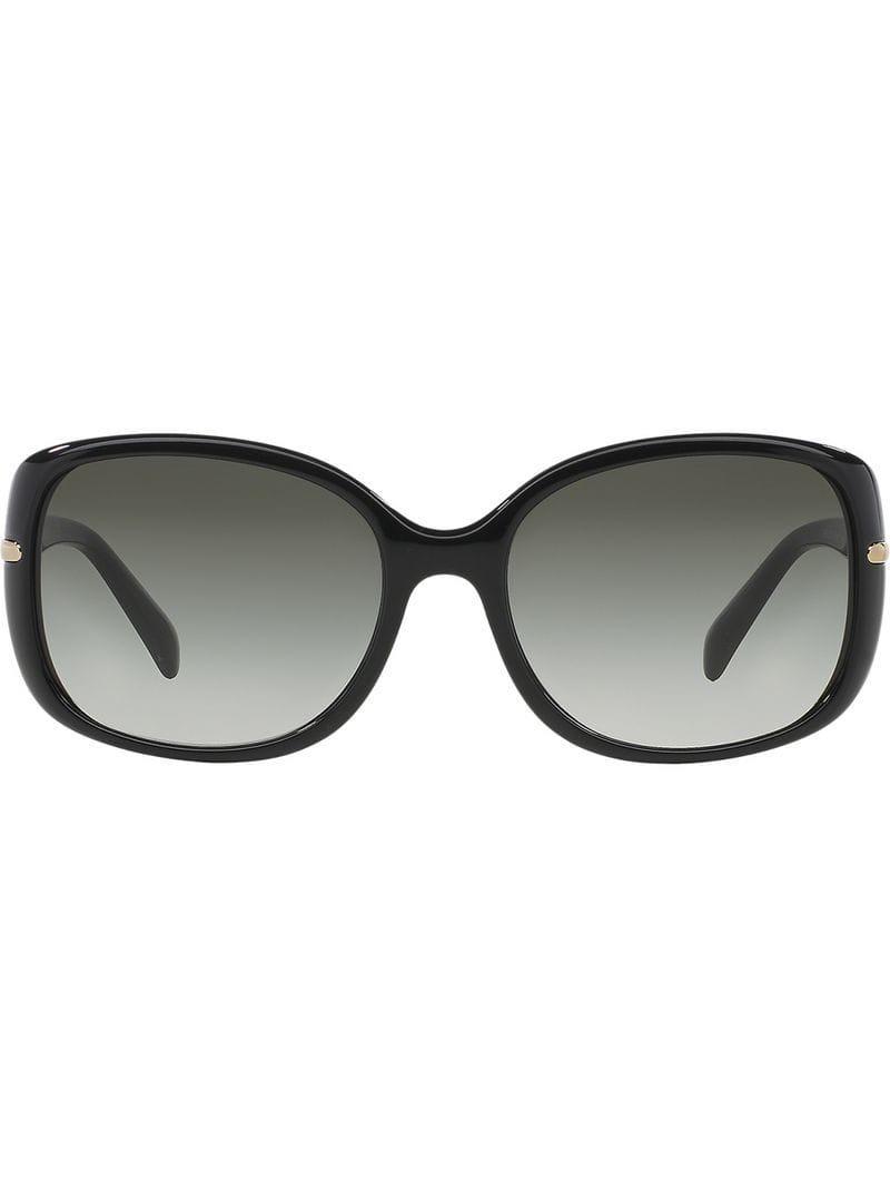 0a182ac342 Prada - Black Gafas de sol con montura cuadrada - Lyst. Ver en pantalla  completa