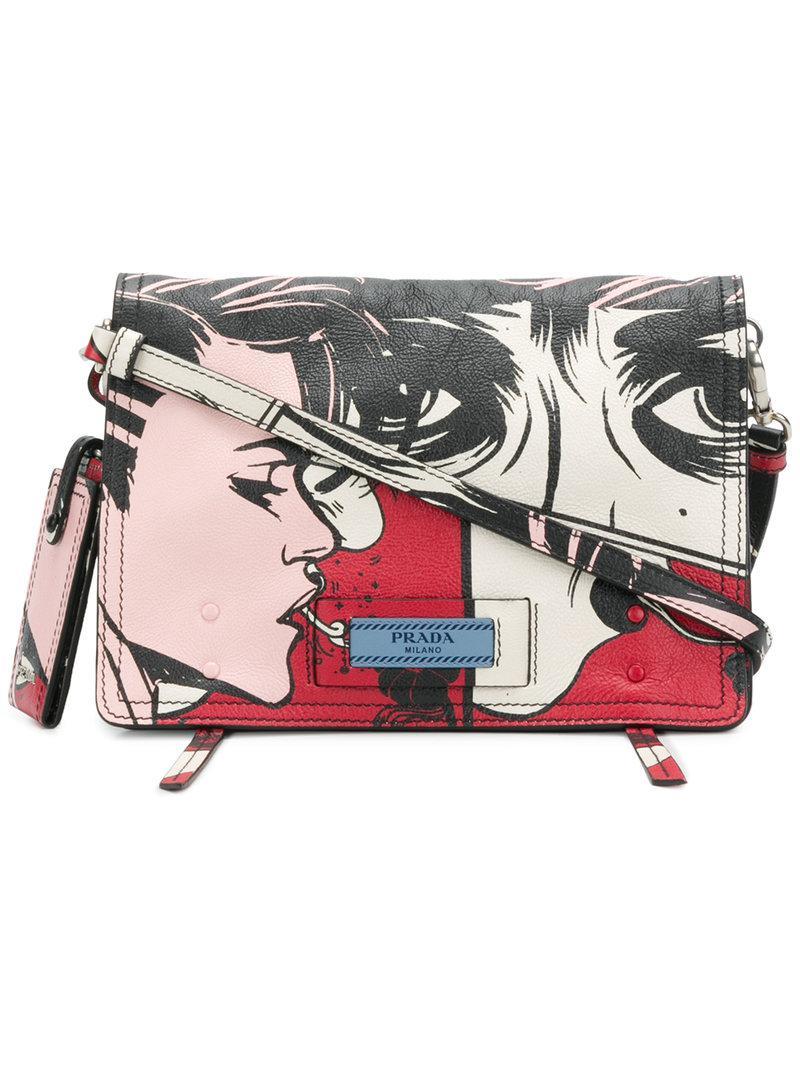 594dfa3549b02 Prada - Multicolor Printed Shoulder Bag - Lyst