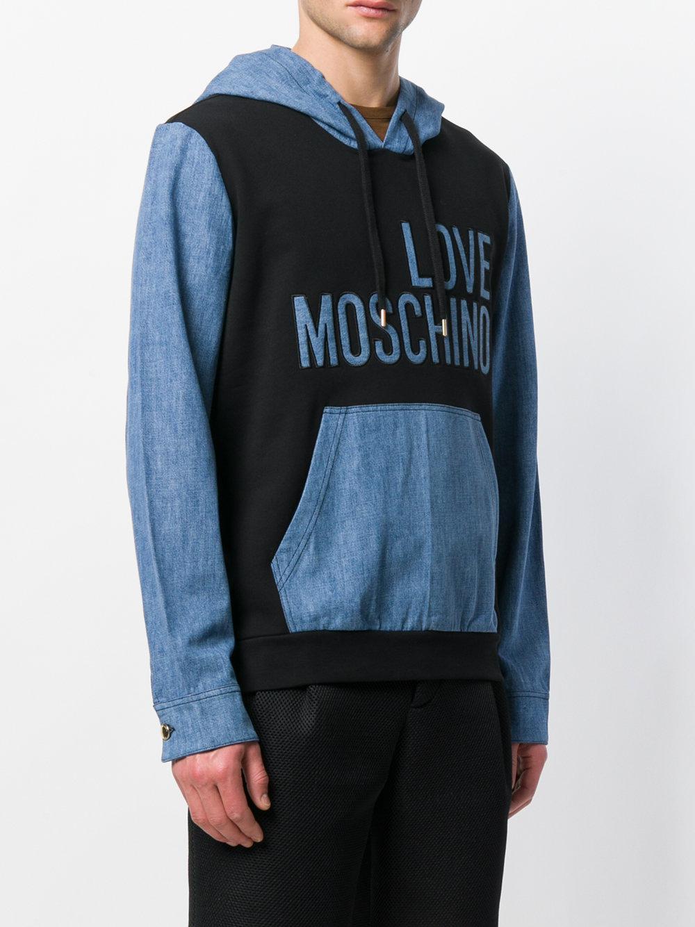 Moschino Sweat bicolore à logo aldO9HNNo