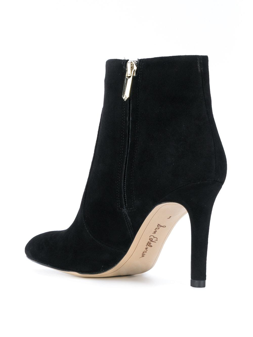53d6e7c5b27a4f Sam Edelman Olette Ankle Boots in Black - Lyst