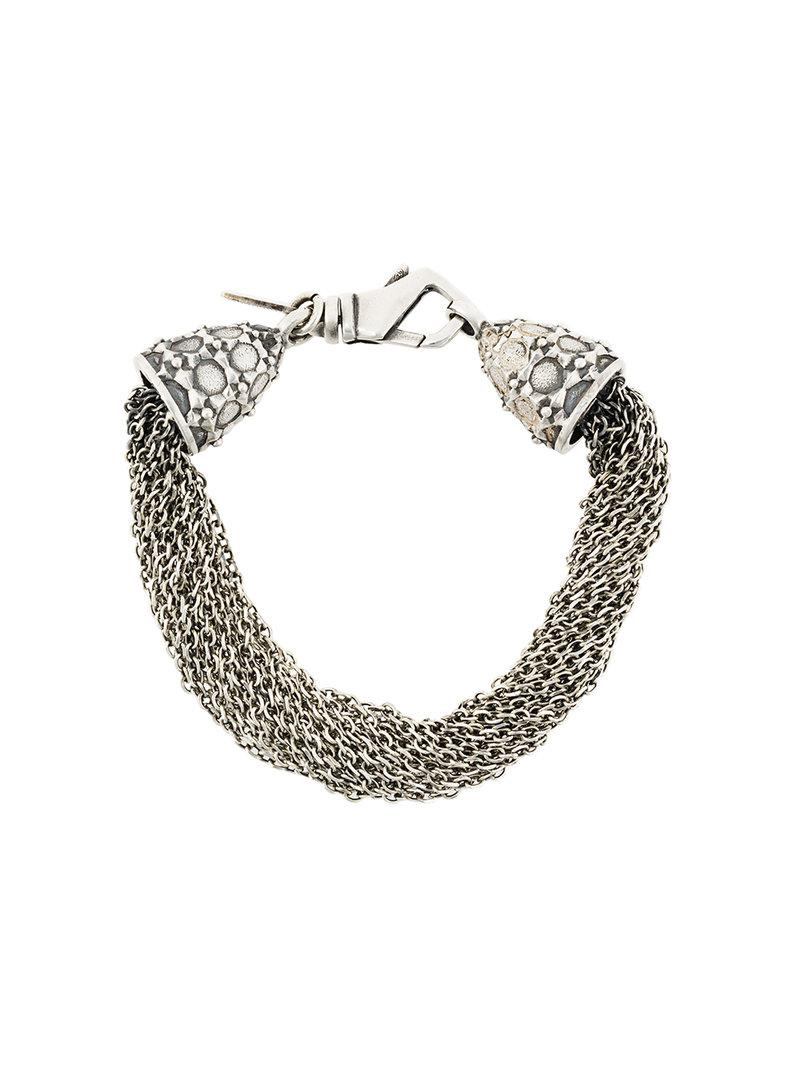 multi chain bracelet - Metallic Emanuele Bicocchi vaYxxD