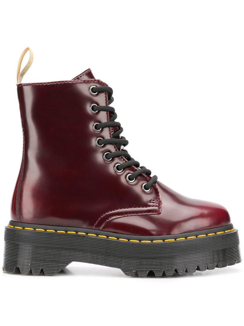 0f91360bbc4d Dr. Martens Vegan Jadon Ii Boots in Red - Save 1% - Lyst