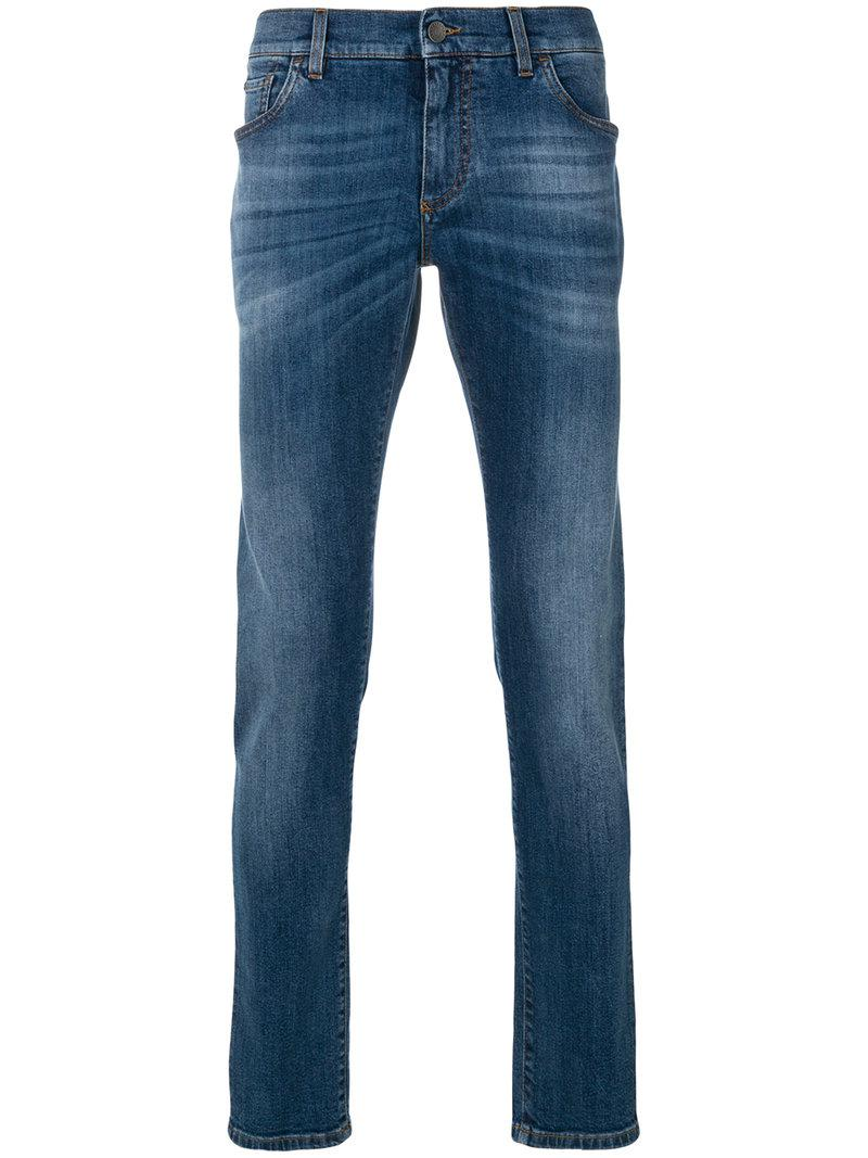 lyst dolce gabbana straight leg jeans in blue for men. Black Bedroom Furniture Sets. Home Design Ideas