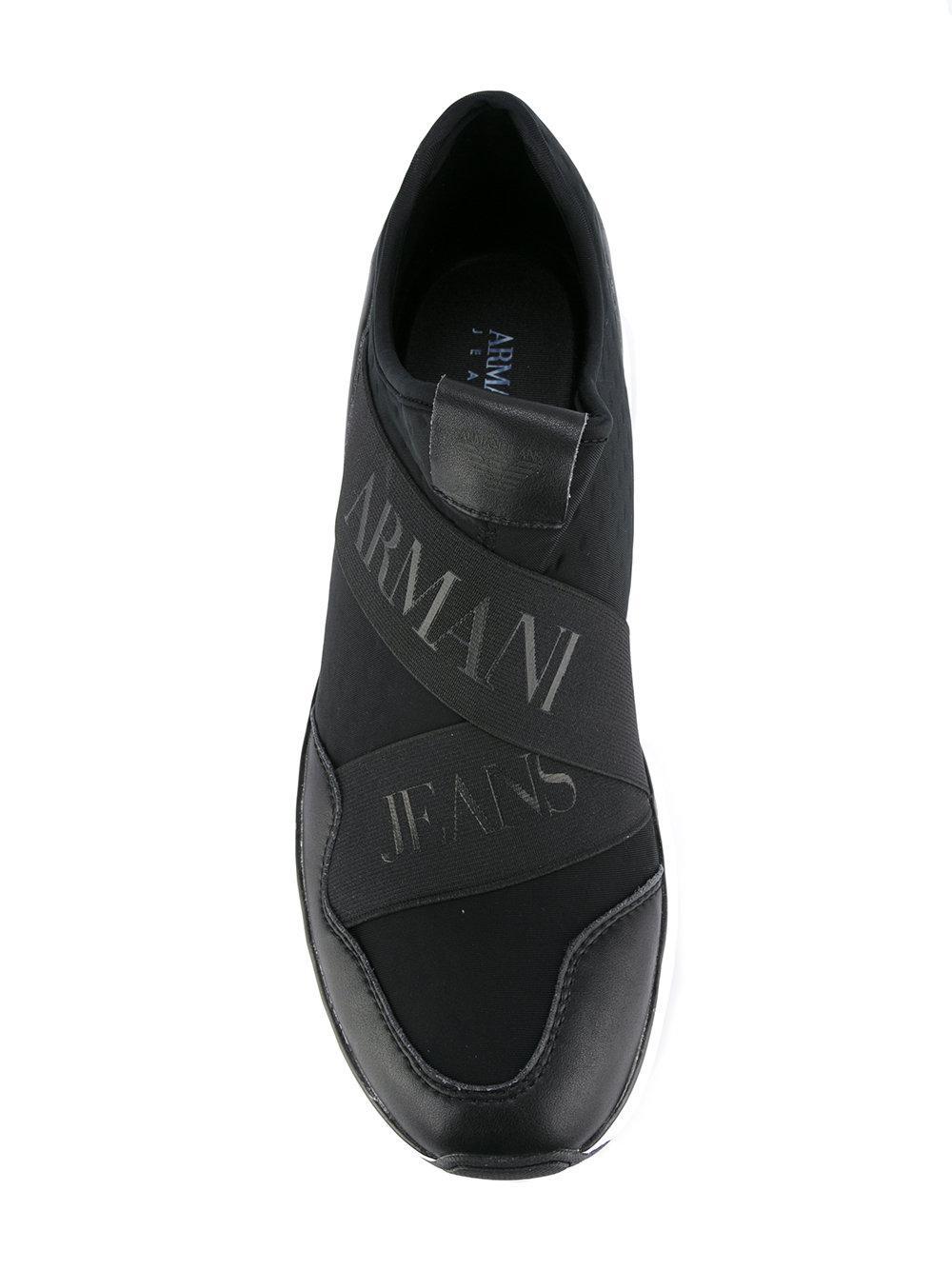 Armani Branded strap sneakers VKcoNBI3VG