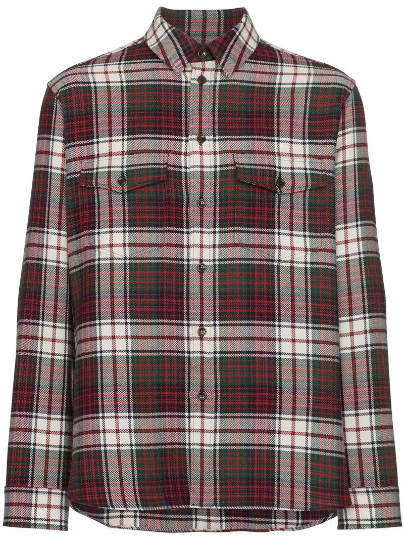 81a41301ac2 Lyst - Gucci Check Flannel Shirt for Men - Save 13%