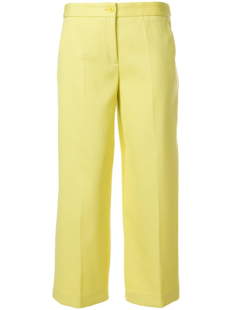 Boutique Moschino wide-leg cropped trousers Discount Cheap Online Cheap And Nice Find Great Sale Online Nicekicks Cheap Online 6we0sD3