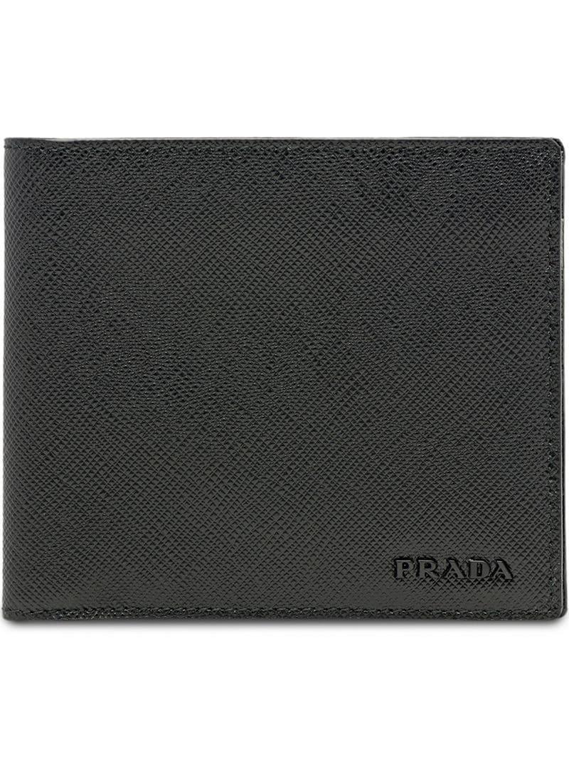 e65e415ec41a3 Prada Portemonnaie aus Saffiano-Leder in Schwarz für Herren - Lyst