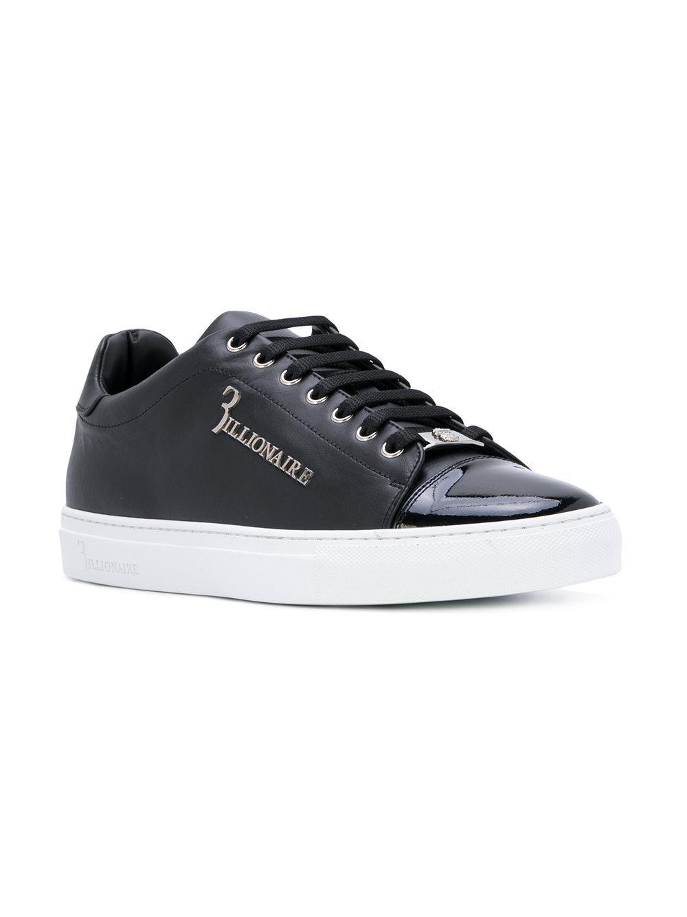 BILLIONAIREMetallic logo sneakers L2jIrx1azf