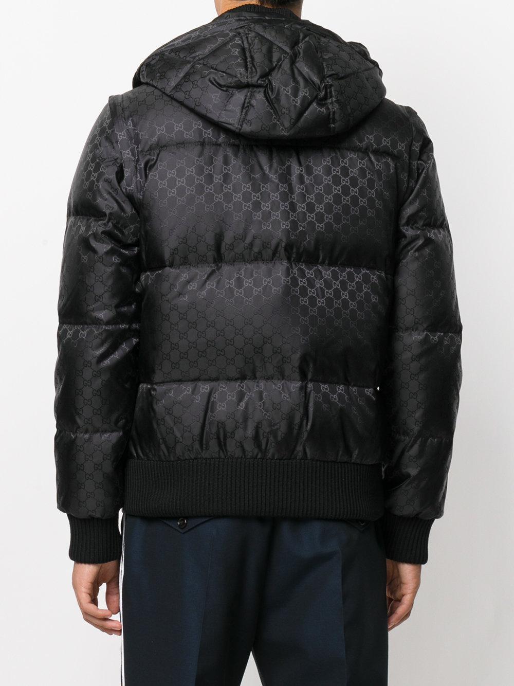 c7e9dd7b85a Lyst - Doudoune GG Gucci pour homme en coloris Noir