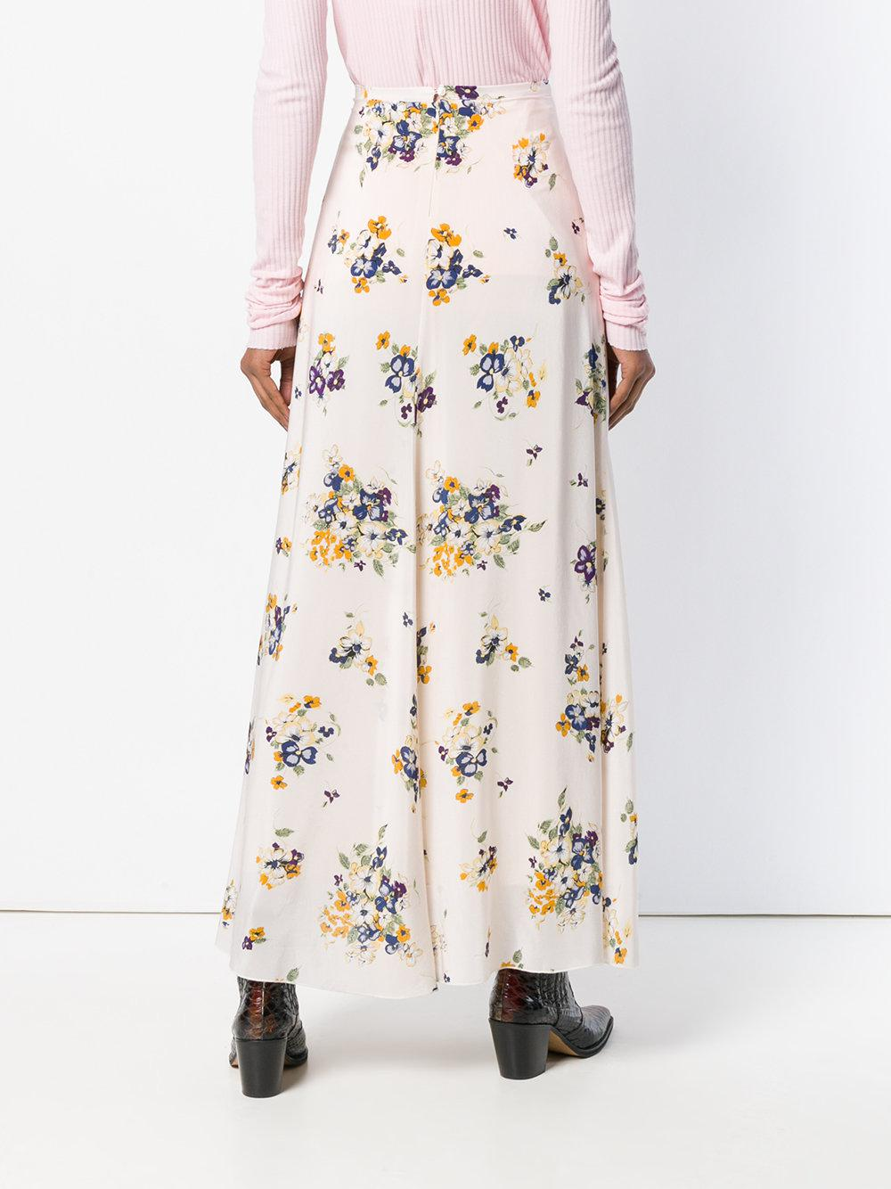 long floral skirt - Pink & Purple Forte_Forte With Paypal Cheap Online WDPzw6RIw