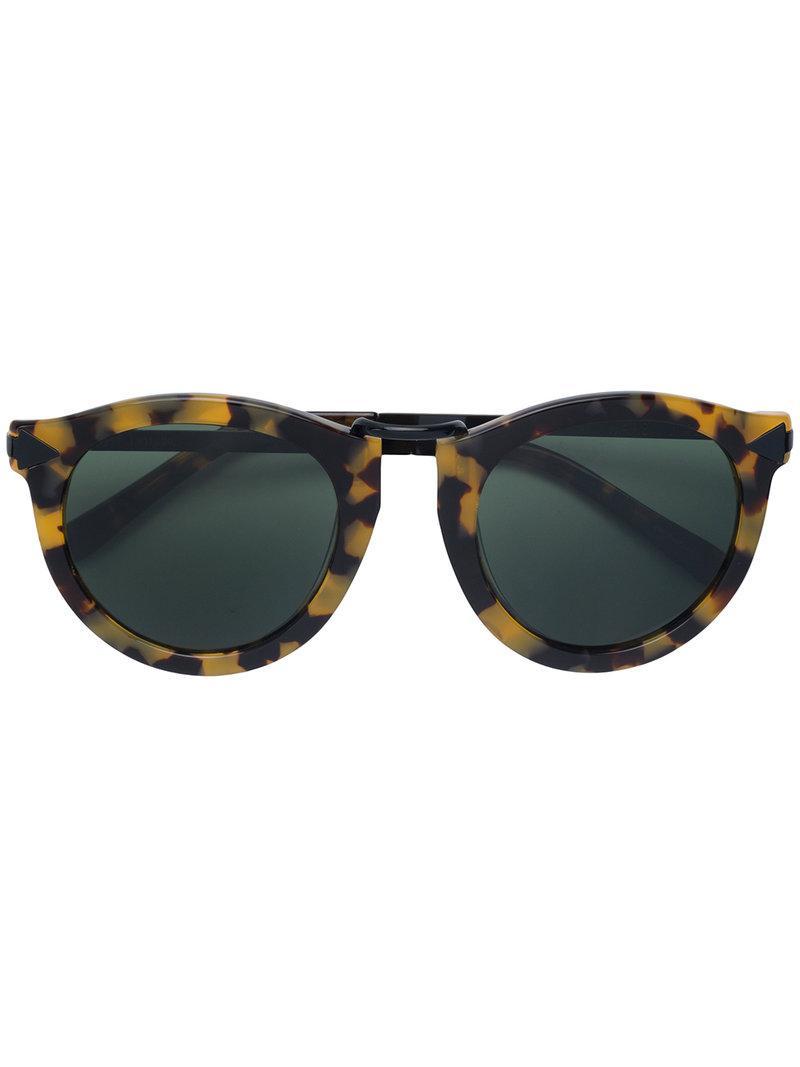 d42fc33f2d Karen Walker. Women s Tortoiseshell Round Sunglasses