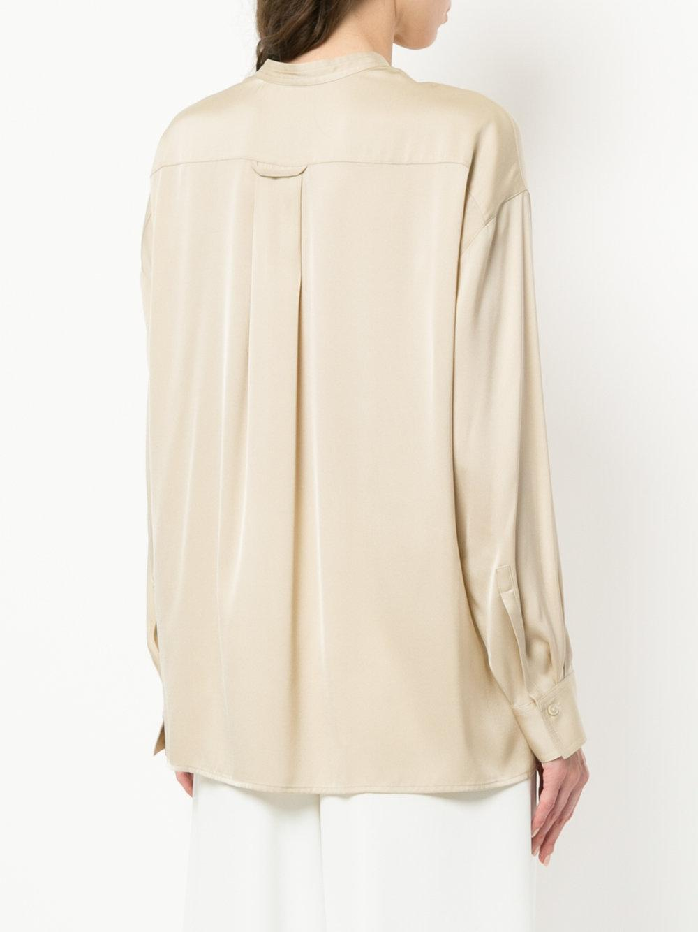 Cheap Sale The Cheapest Sale With Credit Card concealed front blouse - Nude & Neutrals Vince Buy Cheap Newest Cheap Sale Professional Outlet Limited Edition nF4b643Lx0