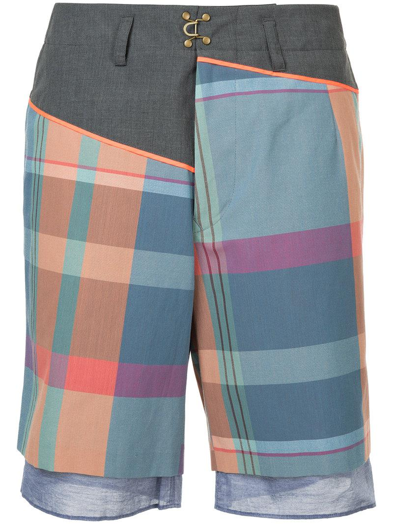 plaid bermuda shorts - Multicolour Kolor y8TnXGCg