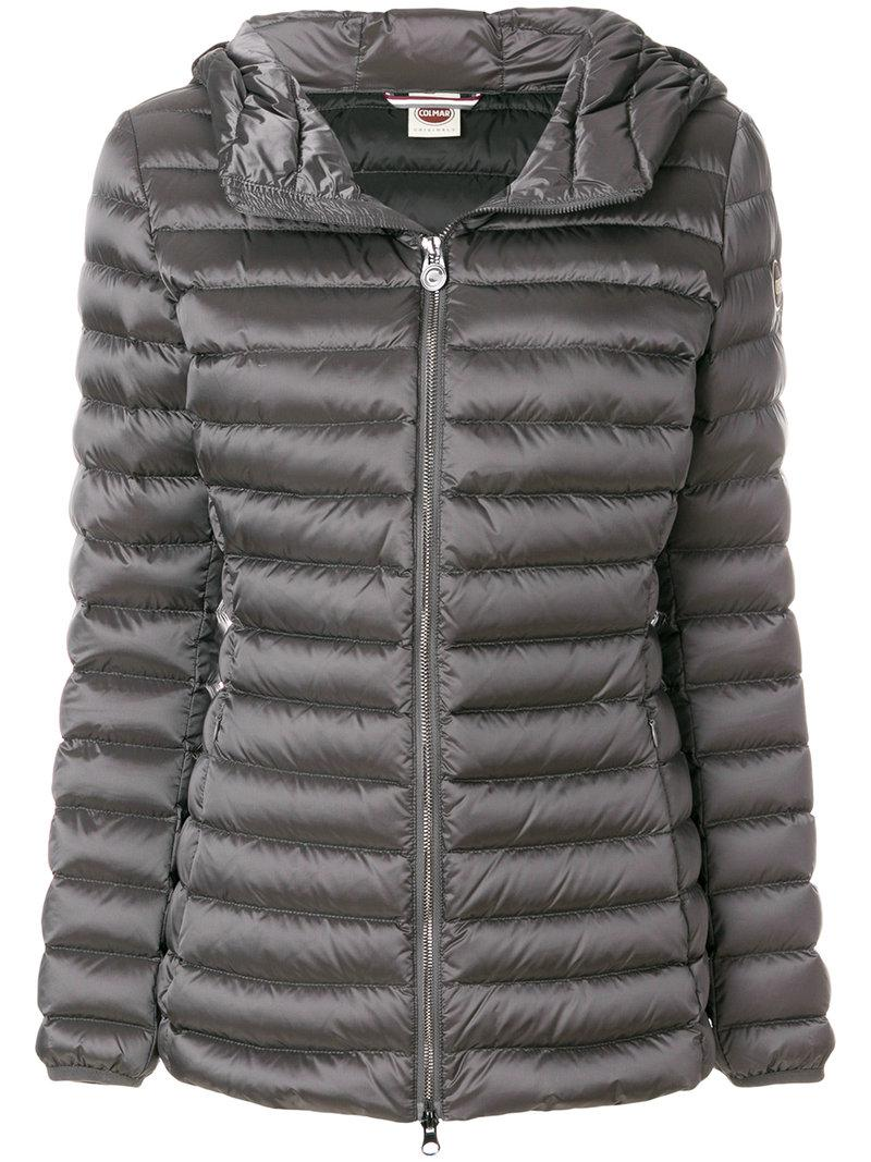 Colore Jacket Di Padded Colmar Zipped Grigio twgqT1
