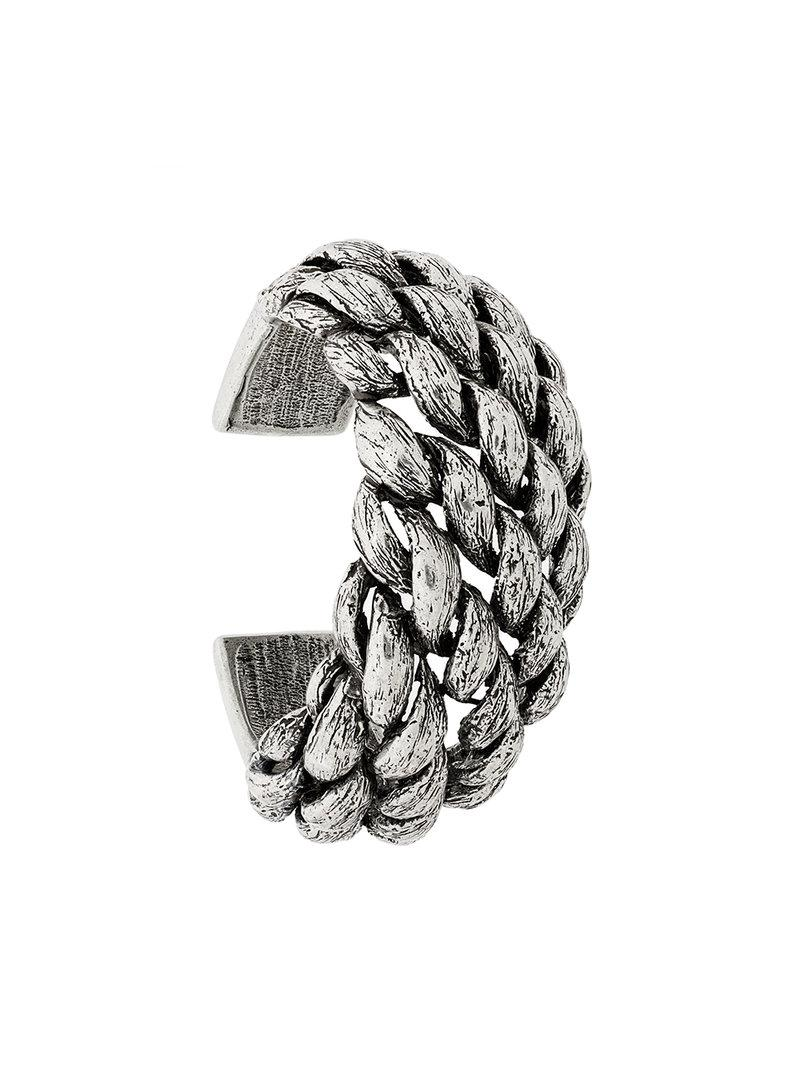 a0ca3901b25 Lyst - Saint Laurent Marrakech Cuff Bracelet in Metallic